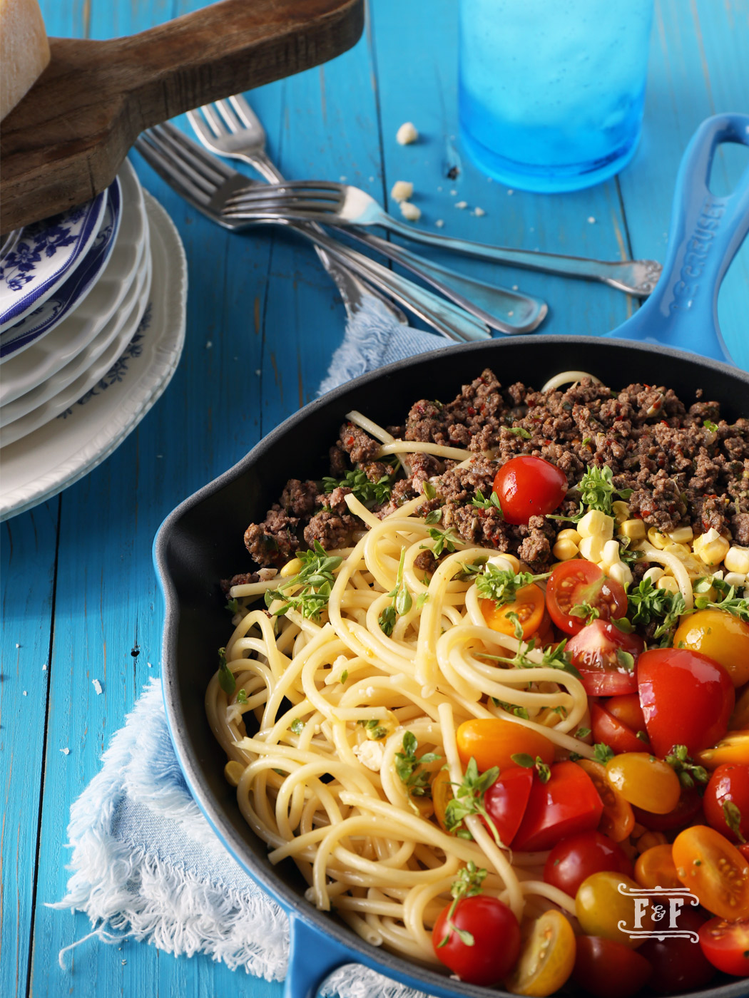 Ciao Summer Pasta with Meatsauce