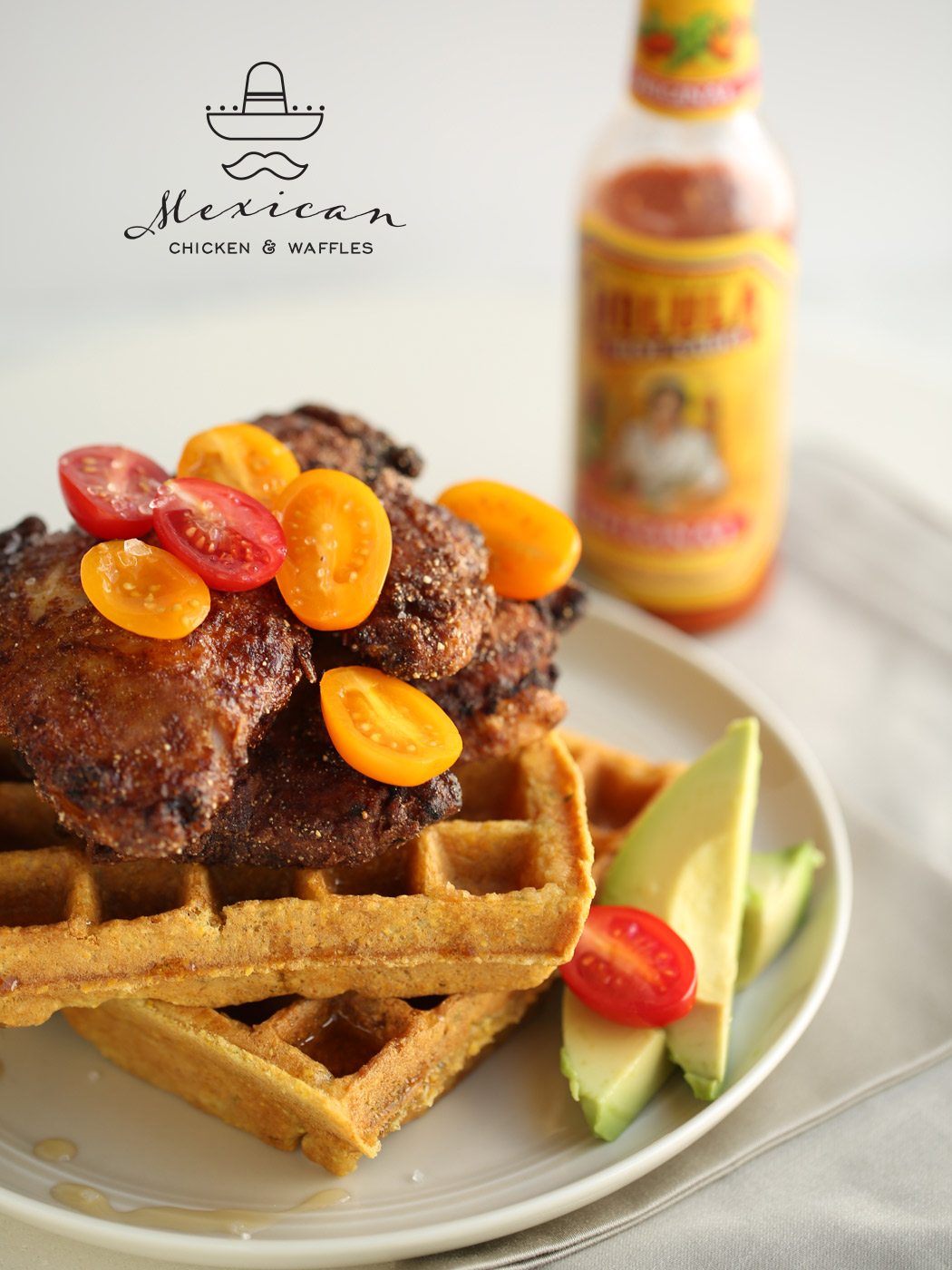 Mexican Chicken and Waffles