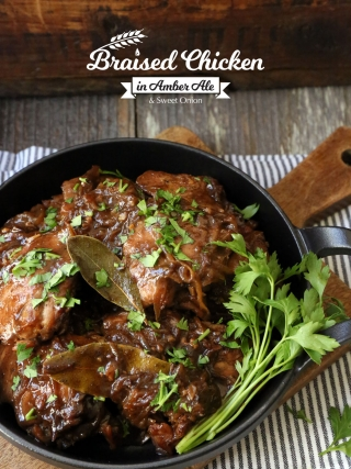 Braised Chicken in Amber Ale and Sweet Onion