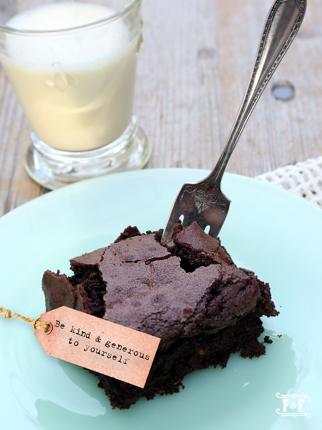 Dutch Cocoa Brownies with Walnuts | Flavor and Friends