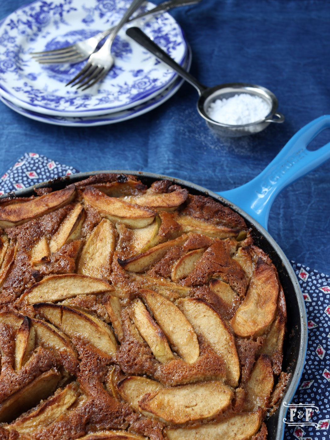Skillet Apple Cake with Cider Reduction