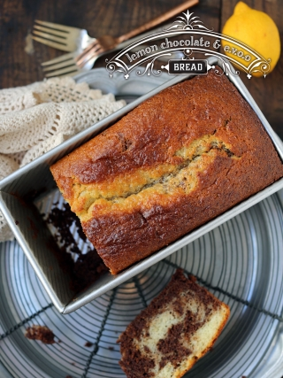 Lemon Chocolate EVOO Marble Bread