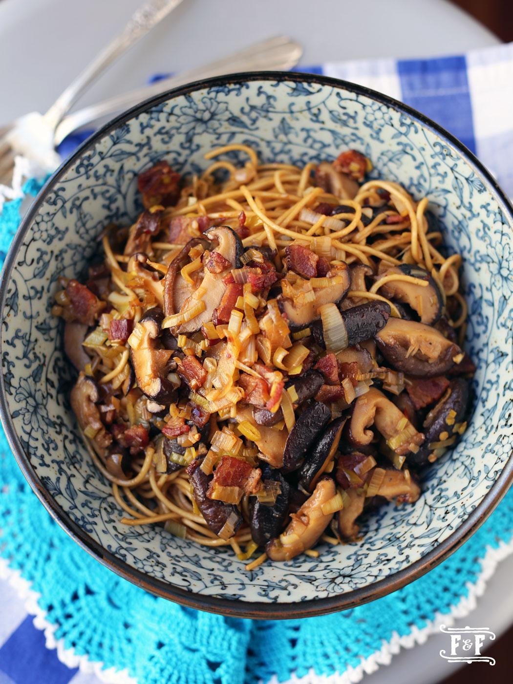 Shiitake & Leek Noodles