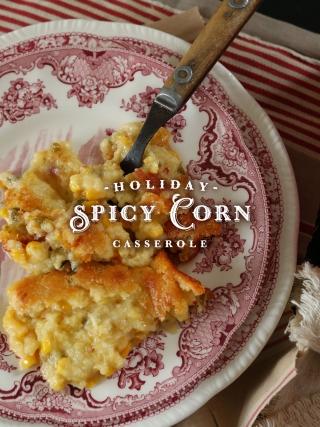Holiday Spicy Corn Casserole