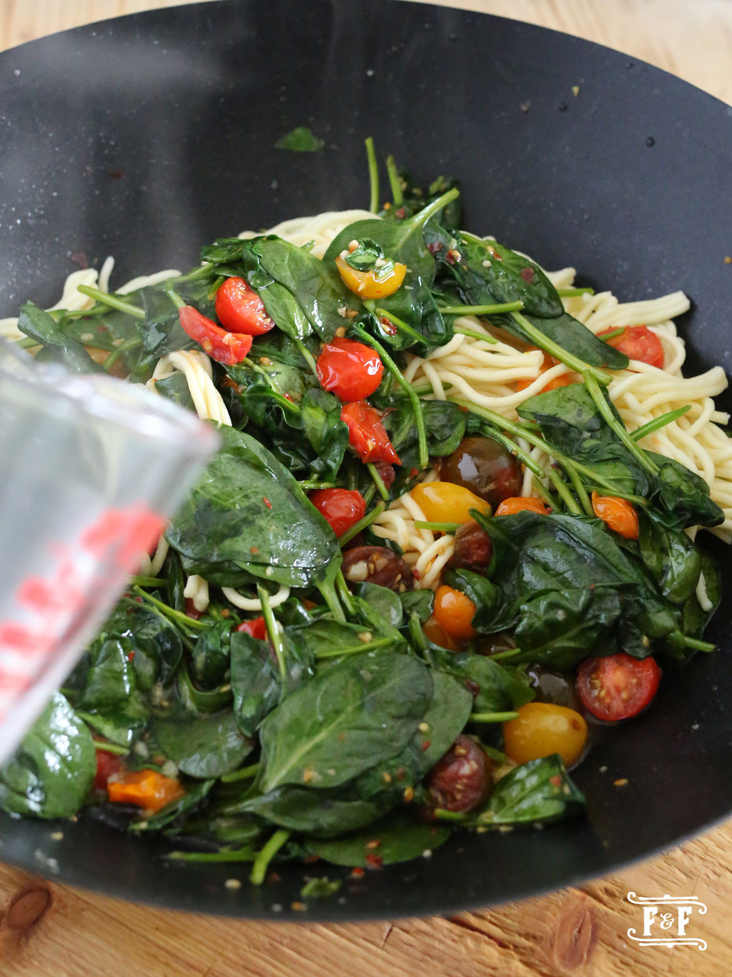 Gluten Free Pasta with Lemony Spinach & Parm