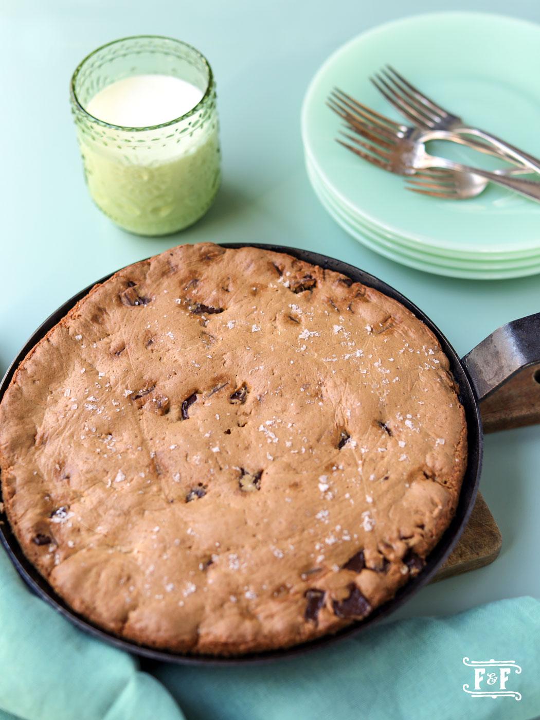Skillet Gluten Free Chocolate Chip Cookie