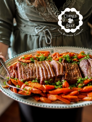 Corned Beef with Roasted Carrots